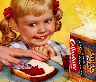 creepy bread advert